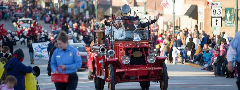 Historic Fire truck in a parade